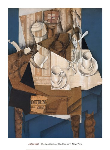 Breakfast, 1914 Poster by Juan Gris for $40.00 CAD