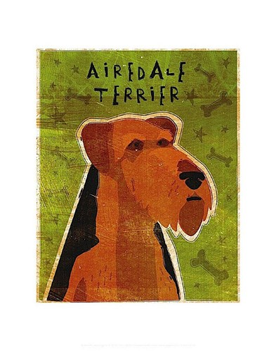 Airedale Poster by John W. Golden for $16.25 CAD