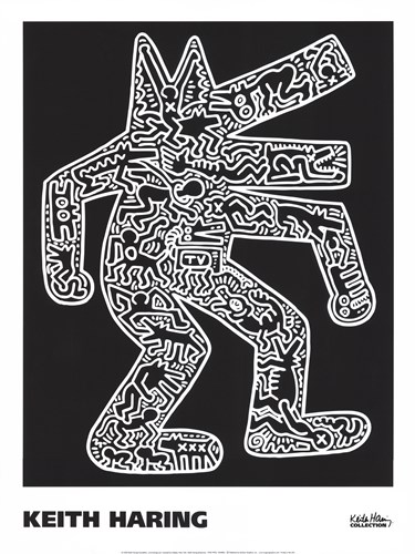 Dog, 1985 Poster by Keith Haring for $40.00 CAD