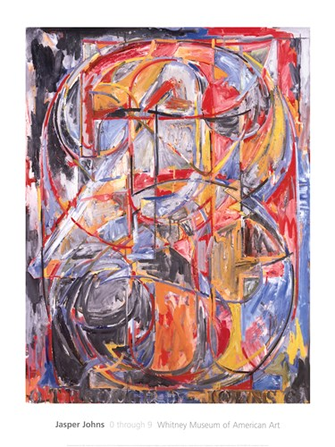 0 through 9, 1961 Poster by Jasper Johns for $60.00 CAD