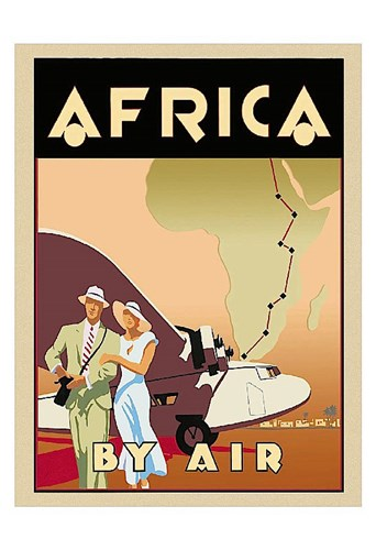 Africa by Air Poster by Brian James for $20.00 CAD