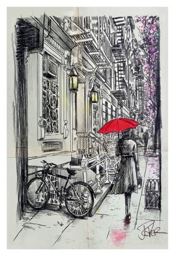 Afternoon Walk Poster by Loui Jover for $20.00 CAD