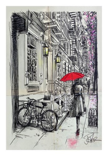 Afternoon Walk Poster by Loui Jover for $40.00 CAD