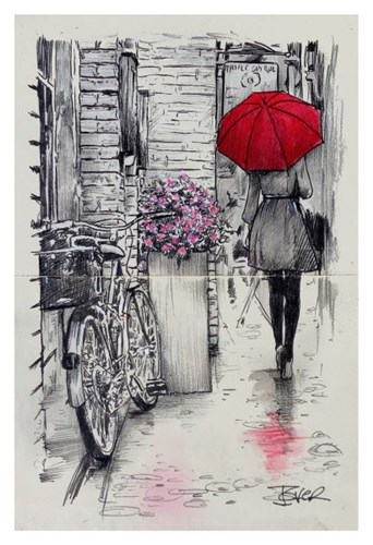 Amsterdam Walk Poster by Loui Jover for $20.00 CAD