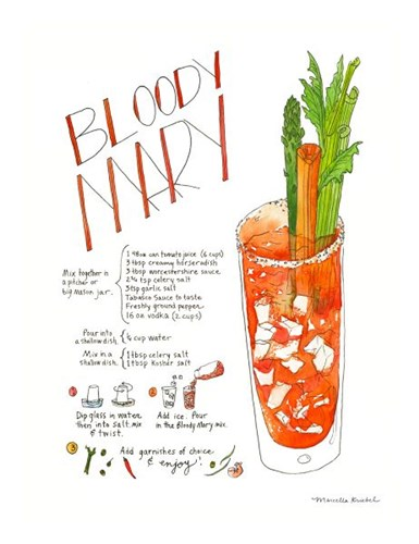 Bloody Mary Poster by Marcella Kriebel for $40.00 CAD