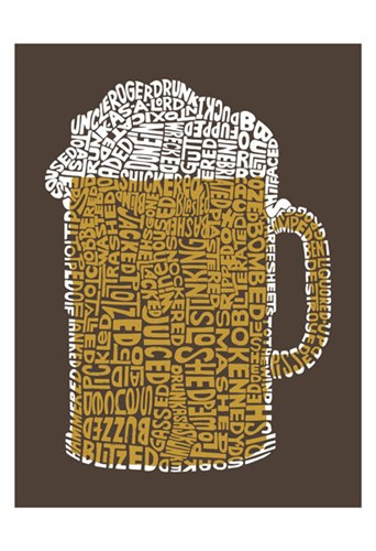 Beer (Popular Terms for Being Drunk) Poster by LA Pop for $20.00 CAD