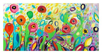 Flower Garden Jazz Poster by Jennifer Lommers for $40.00 CAD