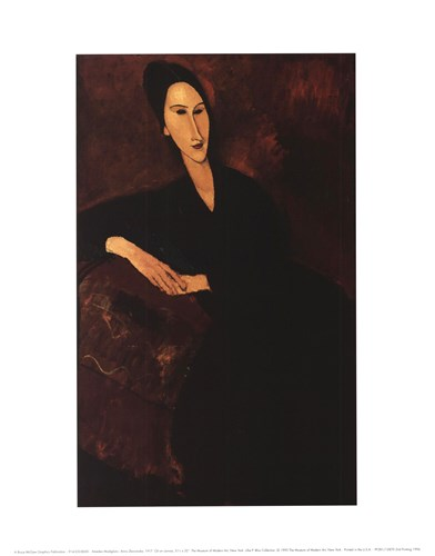 Anna Zborowska Poster by Amedeo Modigliani for $15.00 CAD