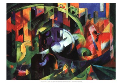 Abstract with Cattle Poster by Franz Marc for $20.00 CAD
