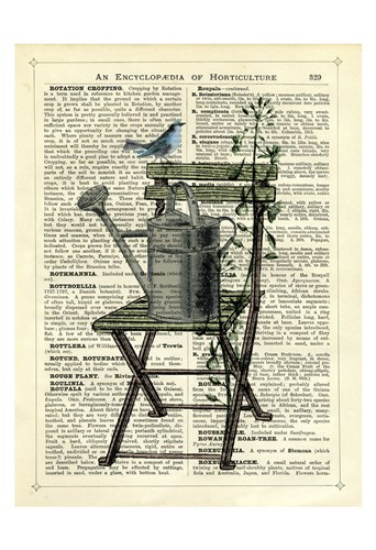 Gardener's Chair Poster by Marion McConaghie for $20.00 CAD