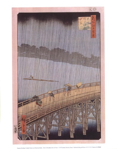 A Sudden Shower Poster by Ando Hiroshige for $12.50 CAD