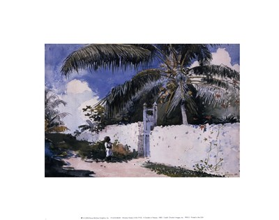 A Garden in Nassau, 1885 Poster by Winslow Homer for $12.50 CAD