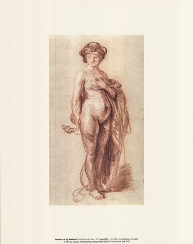 A Nude Woman with a Snake, c. 1637 Poster by Rembrandt van Rijn for $10.00 CAD