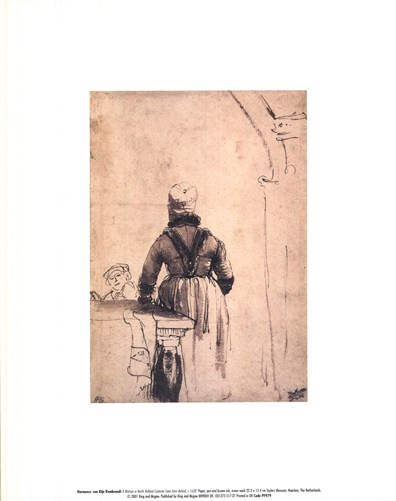 A Woman in North Holland Costume Seen from Behind, c. 1638 Poster by Rembrandt van Rijn for $10.00 CAD