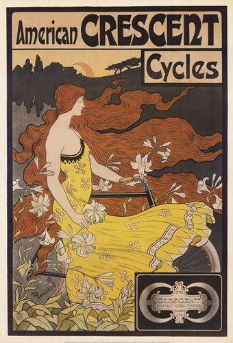 American Crescent Cycles Poster by Fred Ramsdell for $66.25 CAD