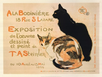A la Bodiniere / Exposition Steinlen Poster by Theophile-Alexandre Steinlen for $52.50 CAD