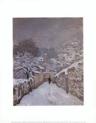 Snow at Louveciennes, France, 1878 Poster by Alfred Sisley for $16.25 CAD