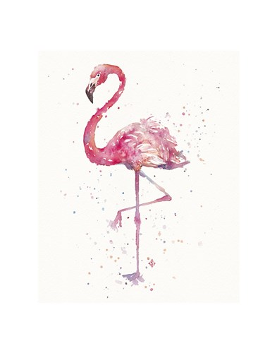 A Flamingo's Fancy Poster by Sillier than Sally for $16.25 CAD