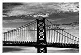Benjamin Franklin Bridge (b/w)