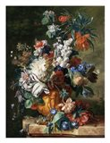 Jan van Huysum, Bouquet of Flowers in an Urn