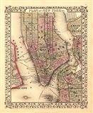 Plan of New York City, 1867