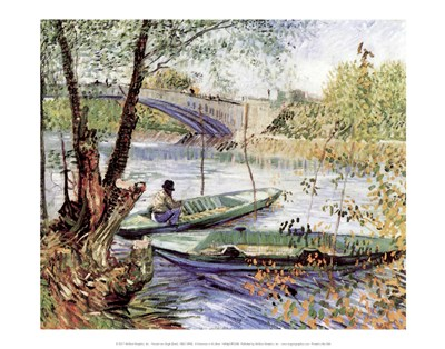 A Fisherman in His Boat Poster by Vincent Van Gogh for $16.25 CAD