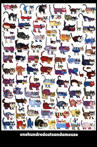 100 Cats and a Mouse Poster by Vittorio Fiorucci for $52.50 CAD