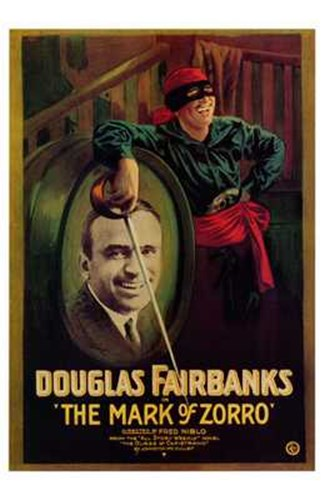 The Mark of Zorro Douglas Fairbanks Poster by Unknown for $26.25 CAD