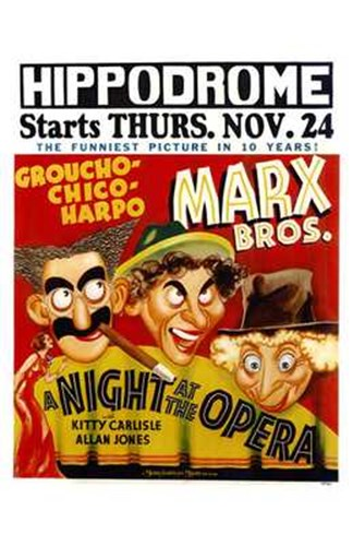 A Night At the Opera Hippodrome Poster by Unknown for $26.25 CAD