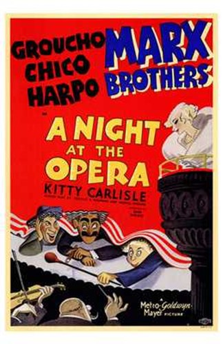 A Night At the Opera Groucho Chico Harpo Poster by Unknown for $26.25 CAD