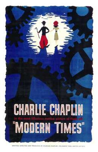 Modern Times Charlie Chaplin Cartoon Poster by Unknown for $26.25 CAD