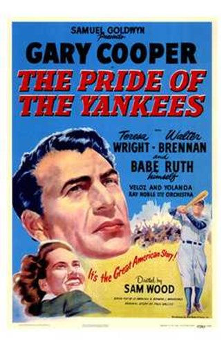 The Pride of the Yankees - Gary Cooper Poster by Unknown for $26.25 CAD