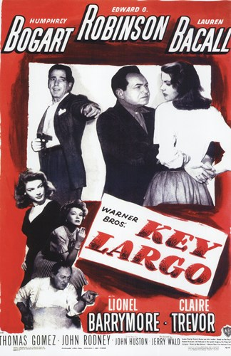 Key Largo Black and Red Poster by Unknown for $26.25 CAD
