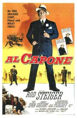 Al Capone With Rod Steiger Poster by Unknown for $26.25 CAD
