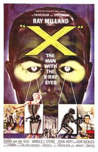 X: the Man with X-Ray Eyes Poster by Unknown for $26.25 CAD