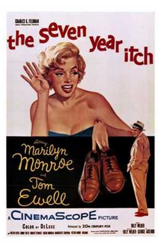 The Seven Year Itch - style A, c.1955 Poster by Unknown for $26.25 CAD