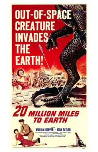 20 Million Miles to Earth William Hopper Poster by Unknown for $26.25 CAD