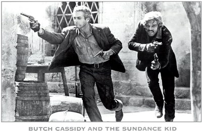 Butch Cassidy and the Sundance Kid B&W Screen Shot Poster by Unknown for $26.25 CAD