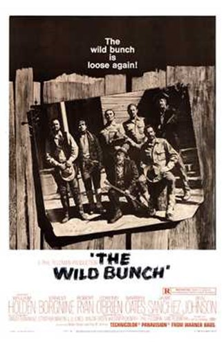 The Wild Bunch - B&W Poster by Unknown for $26.25 CAD