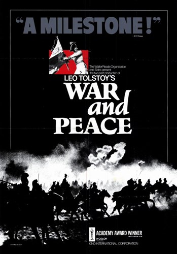 War and Peace - A Milestone Poster by Unknown for $26.25 CAD