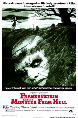 Frankenstein and the Monster from Hell Poster by Unknown for $26.25 CAD
