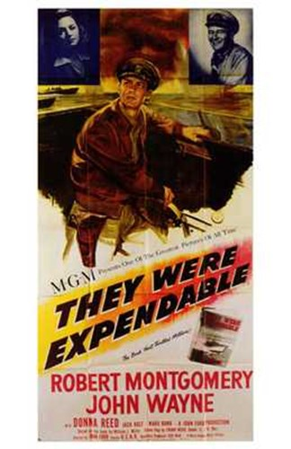 They Were Expendable Robert Montgomery Poster by Unknown for $26.25 CAD