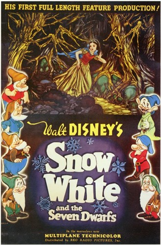 Walt Disney's Snow White and the Seven Dwarfs Poster by Unknown for $26.25 CAD