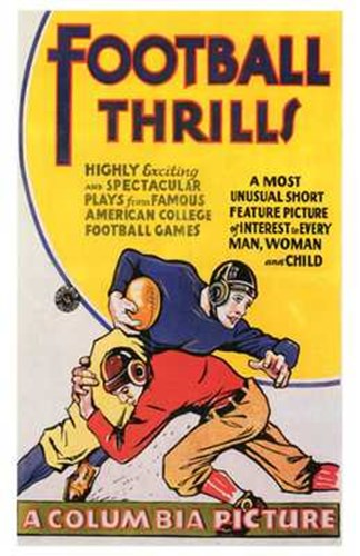 Football Thrills Poster by Unknown for $26.25 CAD