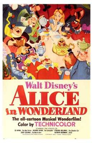 Alice in Wonderland Disney Poster by Unknown for $26.25 CAD