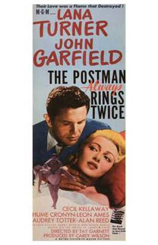 The Postman Always Rings Twice Lana Turner Poster by Unknown for $26.25 CAD