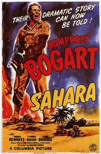 Sahara Humphrey Bogart Poster by Unknown for $26.25 CAD