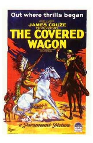 The Covered Wagon Out Where Thrills Begin Poster by Unknown for $26.25 CAD