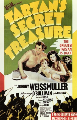 Tarzan's Secret Treasure, c.1941 - style A Poster by Unknown for $26.25 CAD