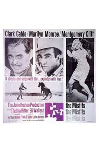 The Misfits Clark Gable Marilyn Monroe Montgomery Cliff Poster by Unknown for $26.25 CAD